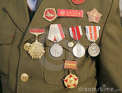 China Korean War veterans Editorial Stock Image