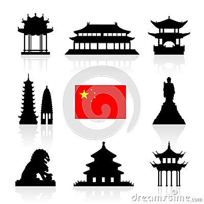 Free China Landmarks Icon Set. Royalty Free Stock Photos - 59544628