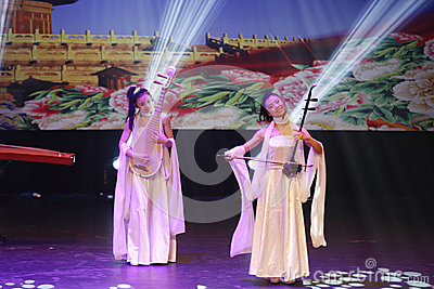 China Modern Youth Orchestra with musical instruments at Bahrain Editorial Stock Photo