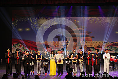 China Modern Youth Orchestra after performance at Bahrain on April 27, 2013 Editorial Photography