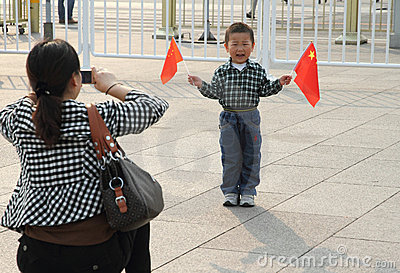 China National Day  Celebrations Editorial Photography
