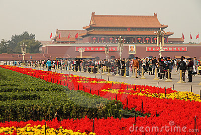 China National Day  Celebrations Editorial Stock Photo