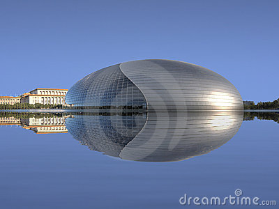 China National Grand Theatre with Reflection