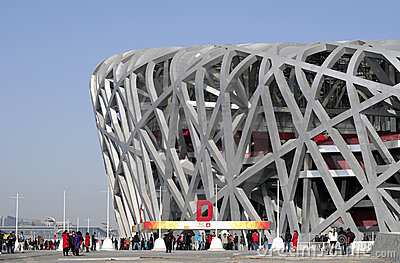 China National Olympic Stadium * Editorial Stock Photo