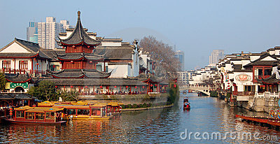China New year NanJing City Confucius Temple Editorial Photo