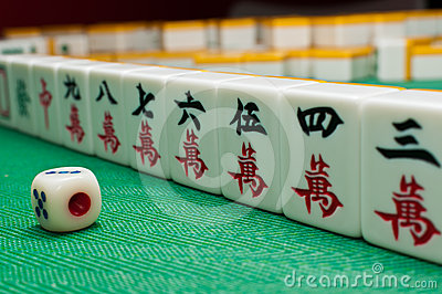 China old game Mahjong