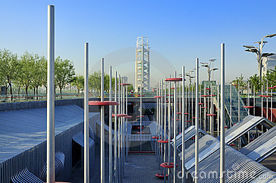 China Olympic Park in Beijing Editorial Stock Photo