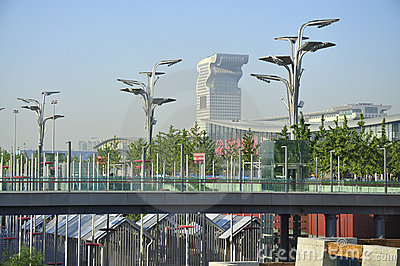China Olympic Park in Beijing Editorial Stock Image
