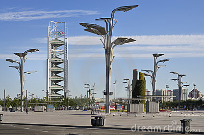 China Olympic Park Tower in Beijing Editorial Stock Image