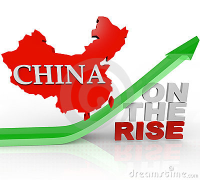 Free China On The Rise - Country Map On Arrow Stock Image - 17330681