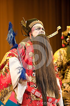 China opera man with black beard