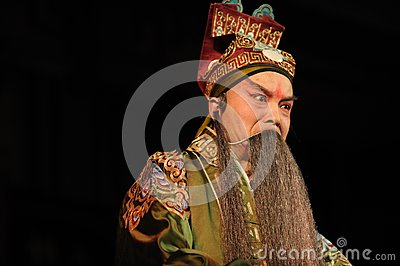 China opera man with long beard