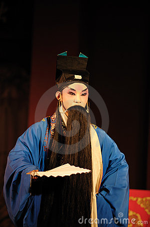 China opera man with long black beard