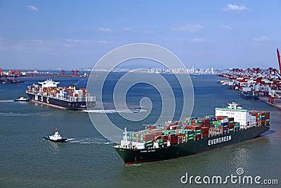 China Qingdao Port Container Terminal Editorial Stock Image