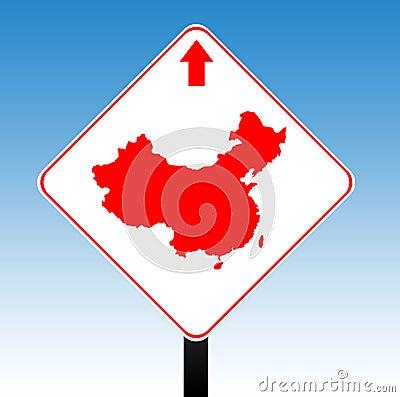 China road sign
