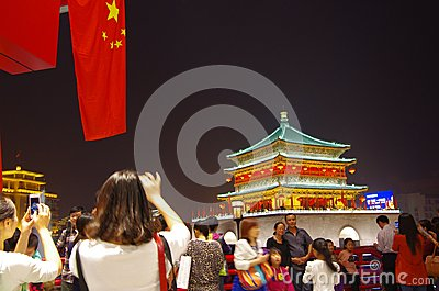 China s attraction of xi  an ShiYiQiTian holiday Editorial Stock Image