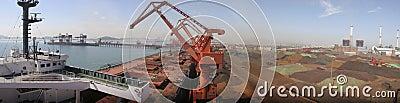 Qingdao Port, China iron ore terminal Editorial Stock Image