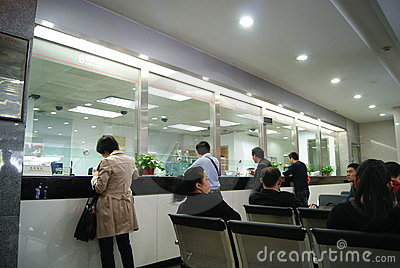 In china s industry and commerce bank for business Editorial Stock Image