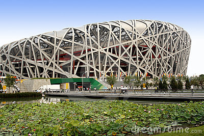 China s National Stadium. Editorial Stock Image