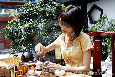 China's tea art.