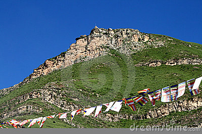 China s Tibet color ascends the god mountain,