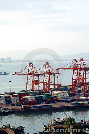 China sea port Editorial Stock Image