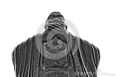 China, Shanghai: Confucius temple; sculpture