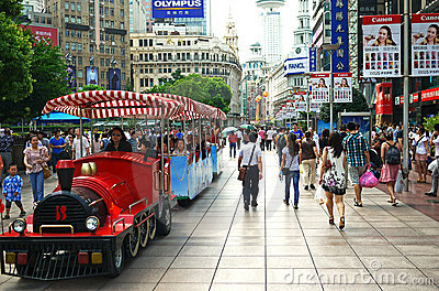 China shanghai nanjing road pedestrian street Editorial Photo