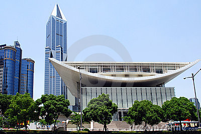 China, Shanghai; the new theatre building
