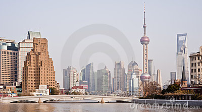 CHINA: Shanghai skyline Editorial Stock Image