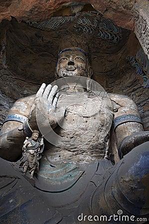 China/shanxi:Stone carving of Yungang grottoes