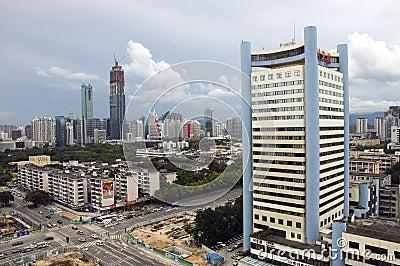 China, Shenzhen cityscape Editorial Photography