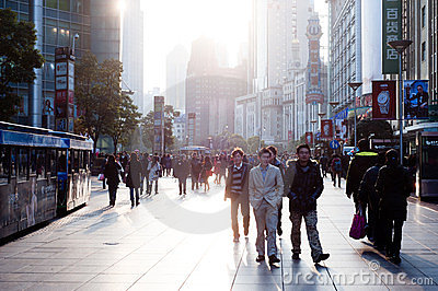 CHINA: shopping in Shanghai Editorial Stock Photo
