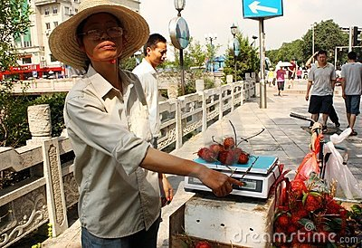 China Street fruit seller Editorial Photography