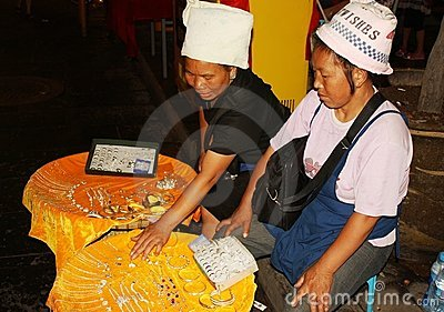 China street sellers of jewellery Editorial Stock Image
