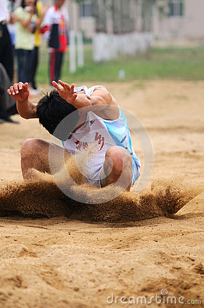 Free China: Student Track And Field Games / Long Jump Royalty Free Stock Photography - 24905557