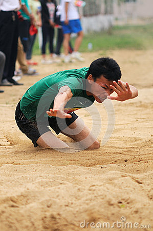 Free China: Student Track And Field Games / Long Jump Stock Photography - 24908252
