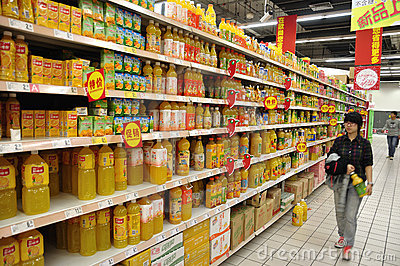 China Supermarket Editorial Photography