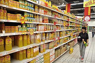 China Supermarket Editorial Photography