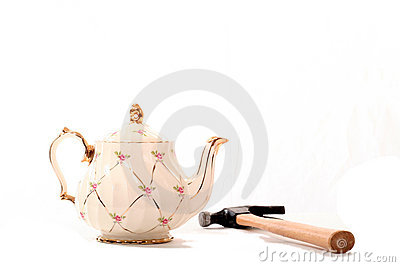 China Tea Pot and Hammer