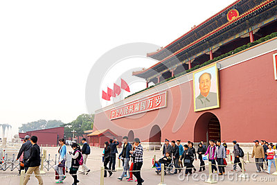 China : Tiananmen Square Editorial Stock Photo
