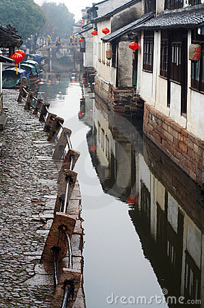 Free China Tourism: Zhouzhuang Ancient Water Town Royalty Free Stock Photo - 8459805