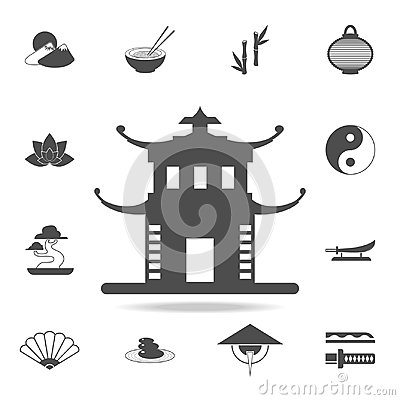 Free China Tower Icon. Set Of Chinese Culture Icons. Web Icons Premium Quality Graphic Design. Signs And Symbols Collection, Simple Ico Stock Image - 110972851
