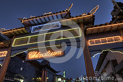 China town gate Editorial Photo