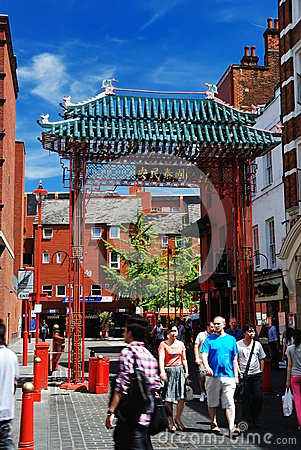 China Town in London Editorial Photography