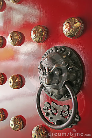 China Town Temple Door Handle Guardian