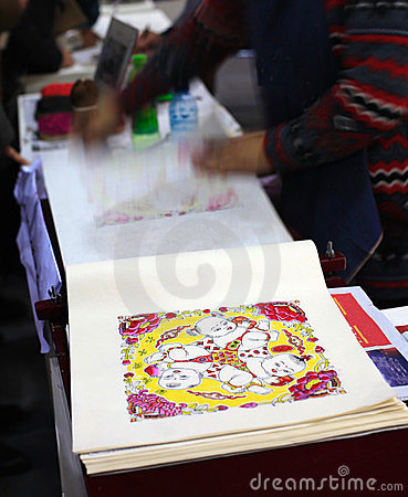 China traditional crafts Editorial Stock Photo