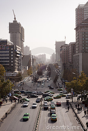 China: Traffic Jam Editorial Stock Photo