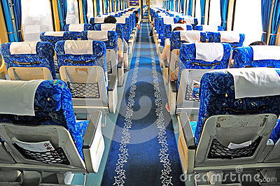 China train interior Editorial Photography