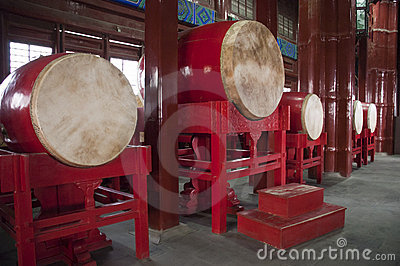 China Travel, Drum in Chinese Drum Tower